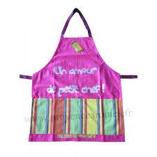 tablier cuisine pour enfant tablier de cuisine pour enfant en coton un amour de petit chef