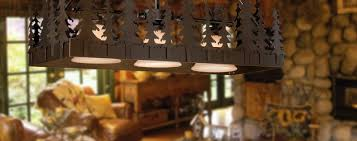 rustic style lighting for lodge style and log homes from hansen