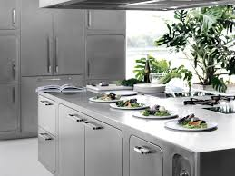 kitchen room stainless steel storage cabinets chef designs