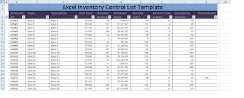 Excel Templates For Inventory Management by Excel Inventory List Template Xls Projectmanagementwatch