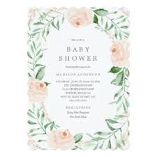 flower garden baby shower invitations announcements zazzle