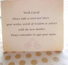 wishing tree cards wish card sign baby shower wish tree