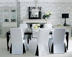 Download White Dining Room Chair Covers Gencongresscom - Dining room chair slip covers