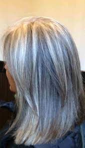highlights for grey hair pictures medium brown hair with gray highlights