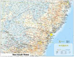 map of new south wales map of australian towns major tourist attractions maps