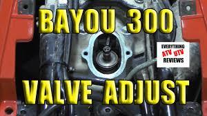 klf 300 2x4 or 4x4 kawasaki bayou valve adjustment 10 15mm