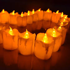 fake tea light candles giftgarden 12 pack led flameless tea light wax candles with remote