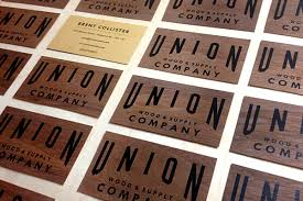 wood company wooden business cards printed wood that looks and unique