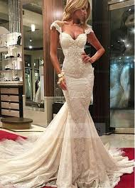 lace mermaid wedding dress shop discount delicate tulle lace sweetheart neckline mermaid