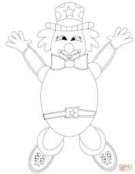 happy clown coloring page free printable coloring pages