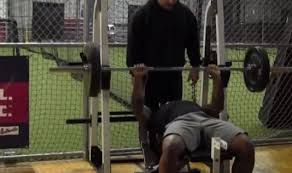 Combine Bench Press Record Obj U0027s Cousin Terron Beckham Crushes 44 Reps On Bench Press At