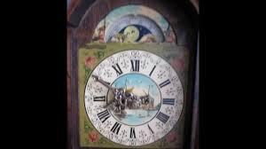 beautiful warmink dutch schippertje 8 day oak wall clock with moon