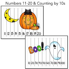 halloween puzzles halloween counting number puzzles with 2 freebies kindergarten