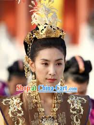 ancient korean princess hair accessories earrings and necklace