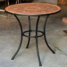 ceramic tile top patio table mosaic patio table s tile top diy uk sets demandit org