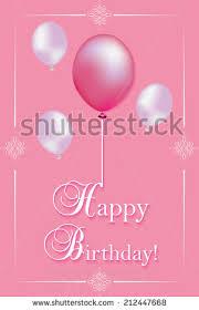 printable birthday card decorations pink birthday card print printable birthday stock vector 212447668