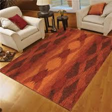 Red Oval Rug Flooring Charming Orian Rugs In Orange On Wooden Floor Plus White