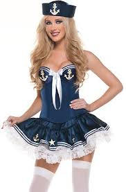 Halloween Costumes Sailor Woman Free Shipping Marine Sailor Costume Sailor Seaman