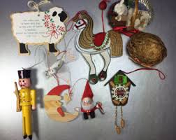 vintage wood ornament etsy