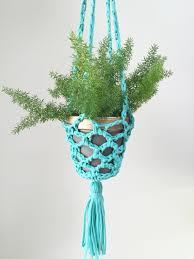 plant happy crochet planter hanger plant hangers plants and