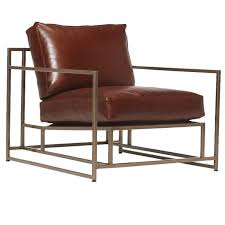Antique Leather Armchairs For Sale Walnut Leather And Antique Brass Armchair For Sale At 1stdibs