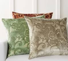 velvet pillow cover pottery barn