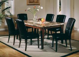 marble top dining table set impressive marble top dining table and room with idea 11 regarding