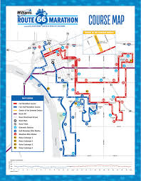 Tulsa Map The Williams Route 66 Marathon Course Maps
