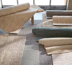 chunky wool u0026 jute rug natural pottery barn