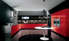 kitchen splendid coool red and black kitchen design ideas design