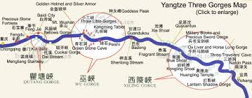 Highly Detailed River Map Of by Yangtze River China Facts History Attractions With Cruise Tours
