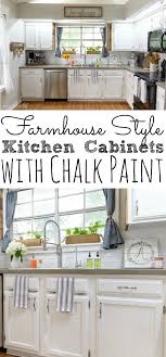 how to paint kitchen cabinets farmhouse style painting kitchen cabinets with chalk paint simply today