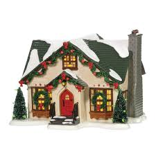 amazon com department 56 snow village dancing lights house home
