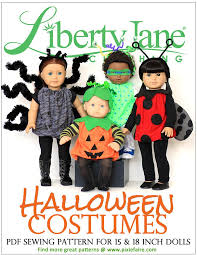 Patterns Halloween Costumes Halloween Costume 18 Doll Clothes Pattern Pdf Download