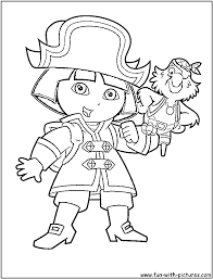smart design pirate coloring pages dora archives