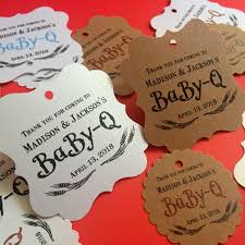 baby q favor tags baby shower bbq theme baby shower thank you