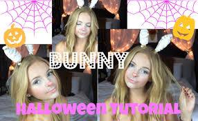 How To Do Cool Halloween Makeup by Easy Bunny Halloween Makeup Lilmissmegsmakeup Youtube