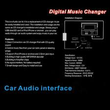 amazon com car 3 5mm jack aux interface adapter audio input for
