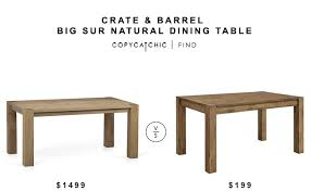 crate and barrel dining room tables crate and barrel big sur natural dining table copycatchic