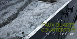 are quartz countertops in style diy faux quartz countertops your concise guide groom style