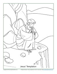 jesus u0027 temptation coloring page children u0027s bible activities