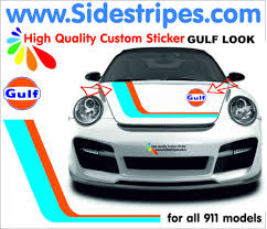 martini stripe martini racing side stripe decal sticker set for all porsche 911