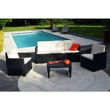 canape de jardin en resine tressee pas cher salon jardin stromboli résine tressée canapé fauteuils table