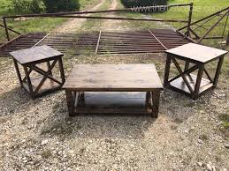 X Bar Table Modern Rustic Coffee Table