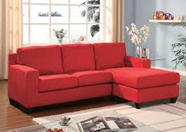 Reversible Sectional Sofa Chaise Acme 05917 Vogue Red Microfiber Reversible Chaise Sectional Sofa