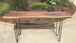 Metal Entry Table Live Edge Tables Benches Abp Works