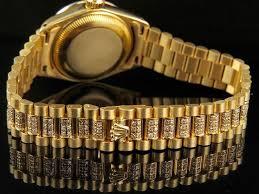 rolex bracelet diamonds images Rolex ladies 26mm 18k yellow gold datejust presidential diamond jpg