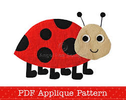 ladybug applique pattern ladybird pdf template lady beetle bug