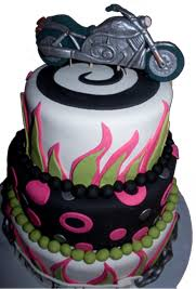 motorcycle cake peace of cakes