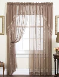 Embroidered Sheer Curtains Emelia Embroidered Sheer Curtains Available In 8 Colors